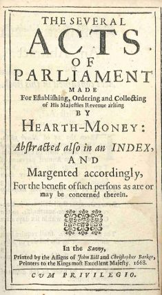 THE SEVERAL ACTS OF PARLIAMENT MADE FOR ESTABLISHING, ORDERING AND COLLECTING OF HIS MAJESTIES...