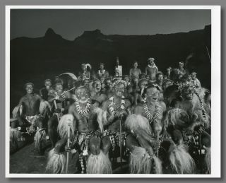 Two Original Gelatin Silver Prints of Photographs of Zulu Tribesmen Watching a Movie]. Yousuf Karsh