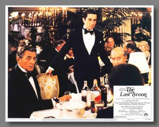 Set of Color Pictorial Lobby Cards for:] THE LAST TYCOON. F. Scott Fitzgerald, Harold Pinter,...