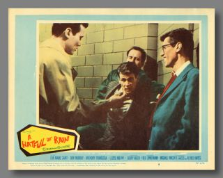 Six Pictorial Lobby Cards for:] A HATFUL OF RAIN. Michael V. : Gazzo Gazzo, Michael V., Alfred...