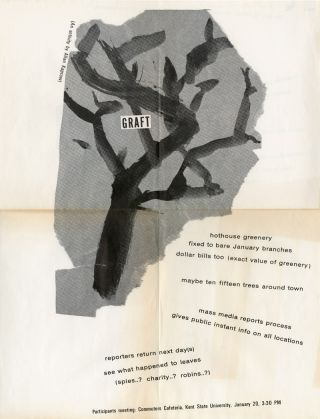 Performance Broadside for:] GRAFT (AN ACTIVITY BY ALLAN KAPROW). Alan Kaprow