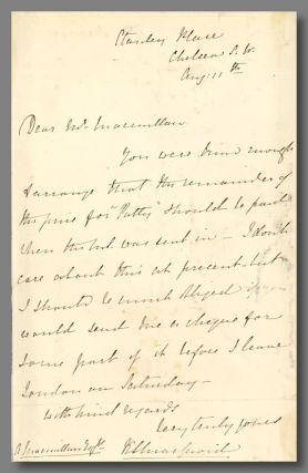 Autograph Letter, Signed, to Her Publisher]. Katherine Macquoid