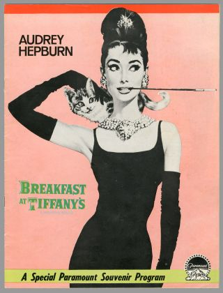 Original Souvenir Program for:] BREAKFAST AT TIFFANY'S. Truman Capote, George Axelrod,...