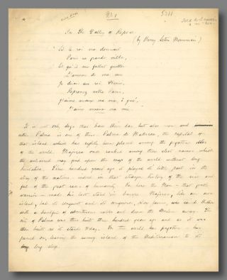 "Original Autograph Manuscript of:] ""IN THE VALLEY OF REPOSE."" Henry Seton Merriman, pseud. of..."