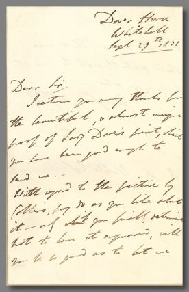 "Autograph Letter, Signed ""Dover,"" to Alaric A. Watts]. George James Welbore Agar, 1st Baron Dover"