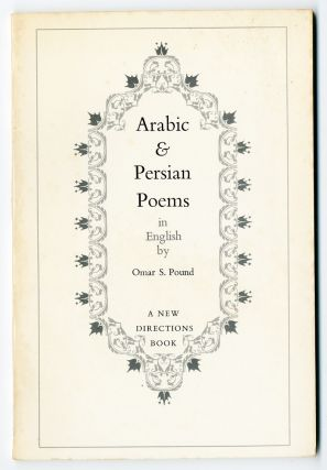 ARABIC & PERSIAN POEMS IN ENGLISH. ed, trans