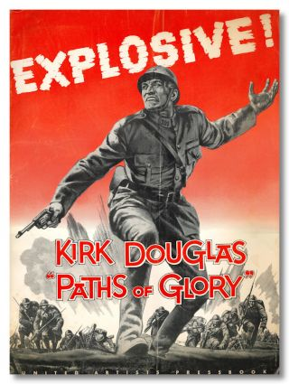"Original Studio Publicity Campaign Pressbook for:] ""PATHS OF GLORY."" Humphrey Cobb, sourcework"
