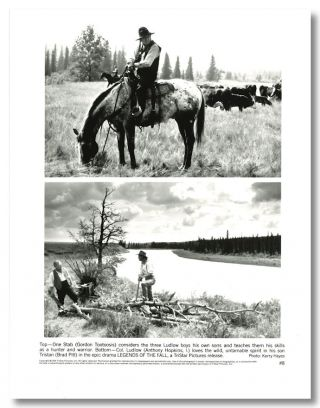 Set of Eight Black & White Publicity Stills for:] LEGENDS OF THE FALL. Jim Harrison, Susan...