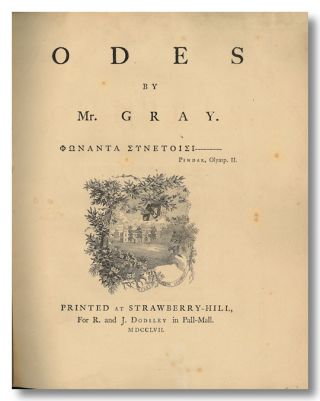 ODES BY MR. GRAY. Thomas Gray