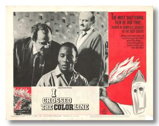 Original Studio Lobby Card for:] I CROSSED THE COLOR LINE. Ted V. Mikels, director