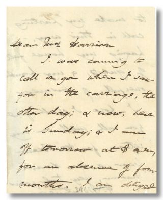 Autograph Note, Signed]. Harriet Martineau