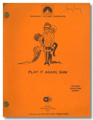 """PLAY IT AGAIN, SAM"" SCREENPLAY BY ... BASED ON A PLAY BY. sourcework, screenwriter"