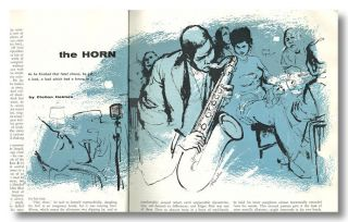 """The Horn,"" contained in NUGGET. John Clellon Holmes"
