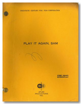 """PLAY IT AGAIN, SAM"" SCREENPLAY BY ... BASED ON A PLAY BY. Woody Allen, Charles Grodin,..."